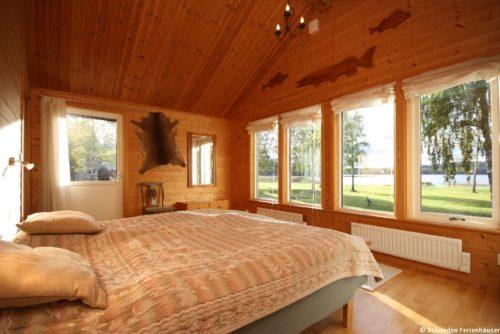 Schlafzimmer 1 – Ferienhaus Sjöstugan Åsunden