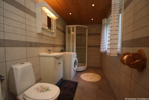 Badezimmer – Ferienhaus Sjöstugan Åsunden