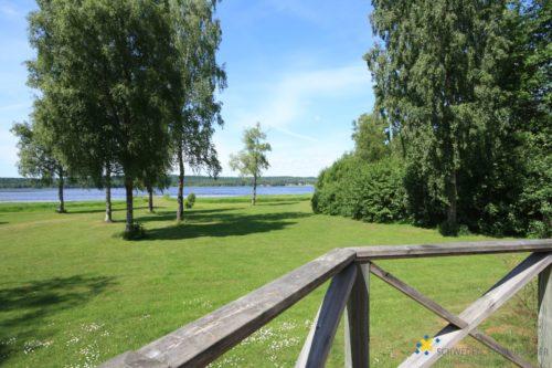 Blick von der Terrasse – Ferienhaus Sjöstugan Åsunden