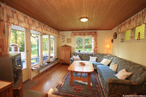 Wohn- /Essbereich mit offener Küche – Ferienhaus Lindholm