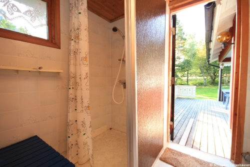 Dusche – Ferienhaus Lindholm