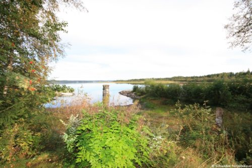 Blick auf den See – Ferienhaus Majblomme