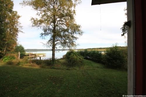 Blick vom Ferienhaus – Ferienhaus Majblomme