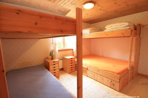 Schlafzimmer 1 – Ferienhaus Blåa Huset