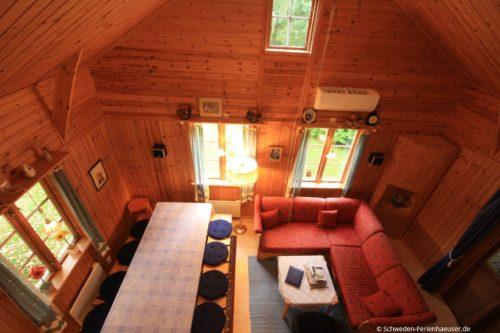 Blick vom Schlafloft – Ferienhaus Blåa Huset