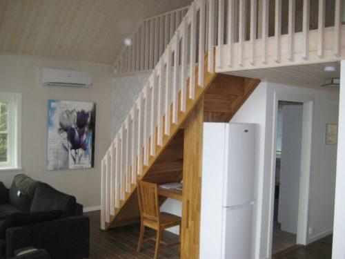 Treppe zum Schlafloft - Ferienhaus Grind 2