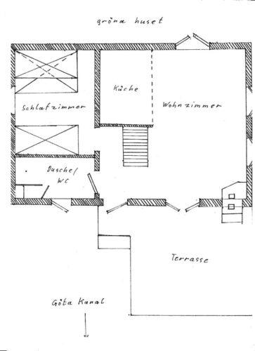 Grundriss - Ferienhaus Gröna Huset