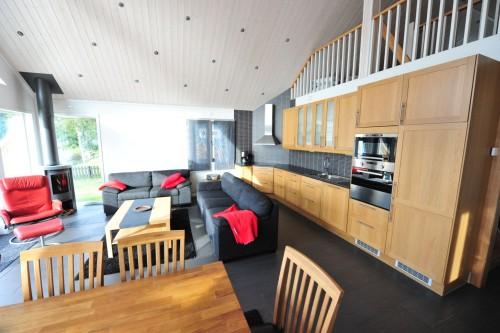 Wohnbereich mit offener Küche – Ferienhaus John 10