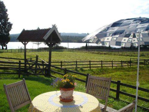 Seeblick von der Terrasse – Ferienhaus Vikenstuga