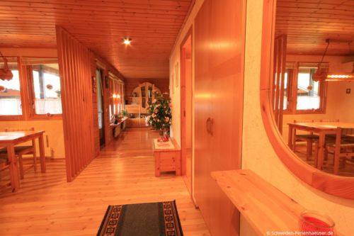 Wohn- /Essbereich mit offener Küche – Ferienhaus Rosendala