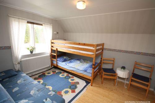 Schlafzimmer 3 – Ferienhaus Mårdaklev