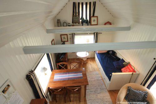 Blick vom Schlafloft - Ferienhaus Vikenstuga