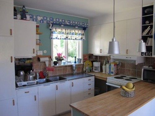 Küche - Ferienhaus Bäckvik