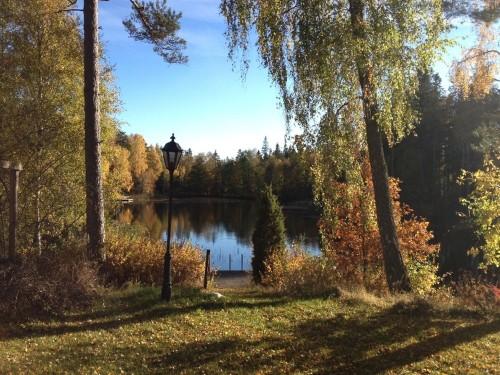 Blick vom Grundstück - Ferienhaus Bäckvik