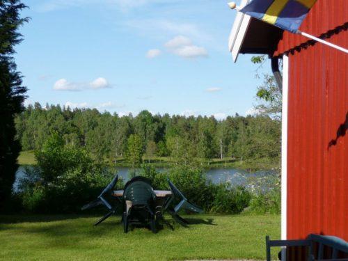 Blick vom Ferienhaus – Ferienhaus Björka