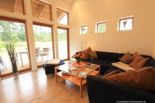 Wohn- /Essbereich mit offener Küche – Ferienhaus Borrby