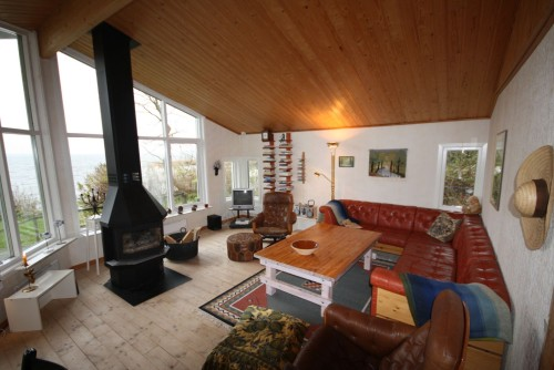 Wohnbereich mit Seeblick – Ferienhaus Dennbo