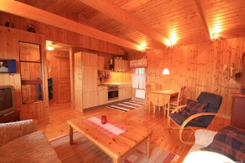 Wohn- /Essbereich mit offener Küche – Ferienhaus Dyp