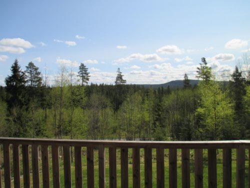 Blick von der Terrasse – Ferienhaus Dyp