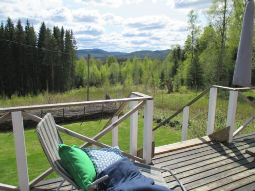 Blick von der Terrasse – Ferienhaus Klock