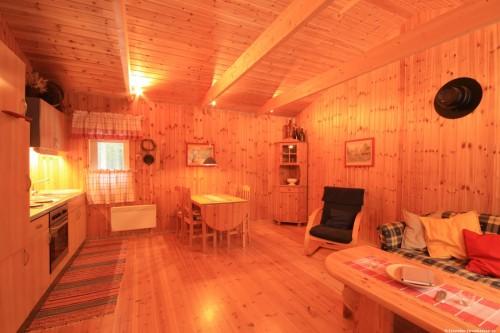 Wohn- Essbereich mit offener Küche – Ferienhaus Let