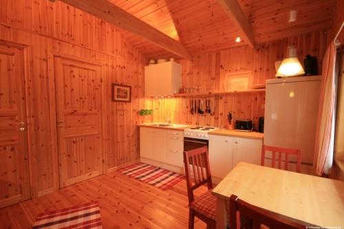 Wohn- /Essbereich mit offener Küche – Ferienhaus Rang