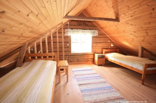 Schlafzimmer – Ferienhaus Rimforsa