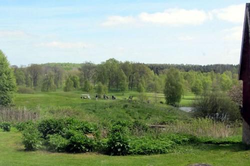Blick vom Ferienhaus auf den Golfplatz - Ferienhaus Rya