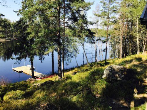 Blick vom Ferienhaus – Ferienhaus Ubbaboda