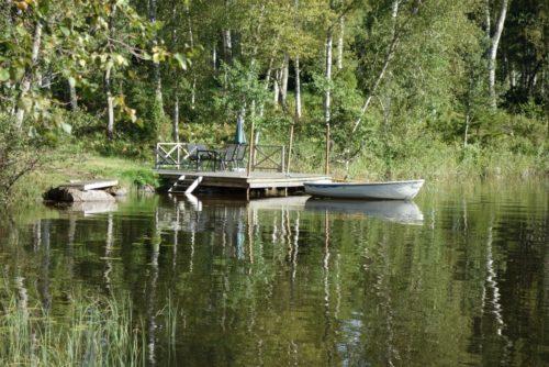 Seeterasse mit eigenem Boot – Ferienhaus Udden