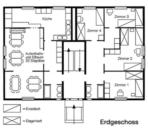 Grundriss (Erdgeschoss) – Gruppenhaus Fagerhult