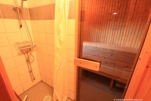 Sauna mit Dusche – Ferienhaus Björk