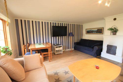 Wohnzimmer – Ferienhaus Tida