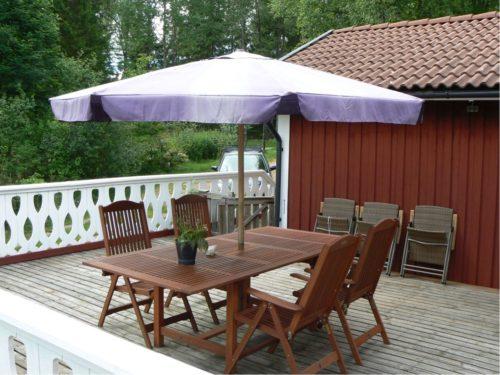 Terrasse – Ferienhaus Hrysås