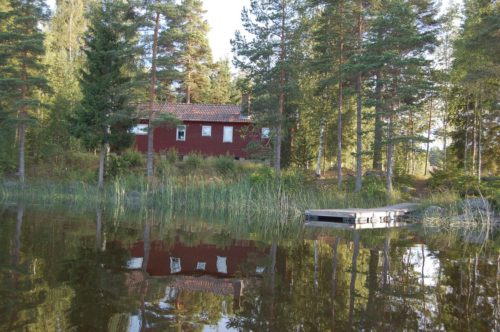 Blick vom See – Ferienhaus Westa