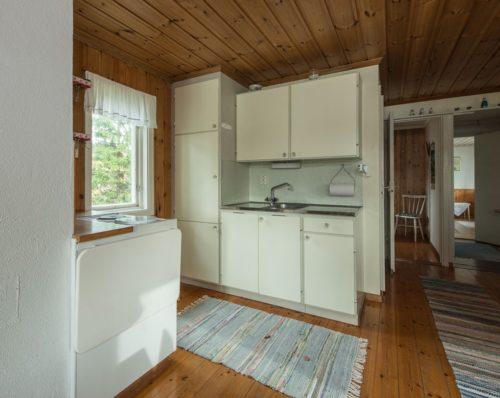 Wohn- /Essbereich mit offener Küche – Ferienhaus Westa