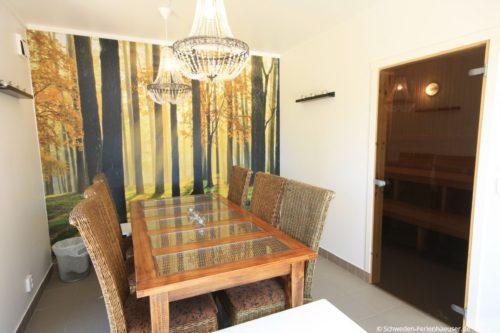 Sauna und weiterer Sitzbereich – Ferienhaus Ströms