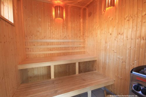 Sauna (Erdgeschoss) – Ferienhaus Bro