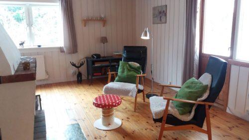 Wohnzimmer mit offener Küche – Ferienhaus Granlunden