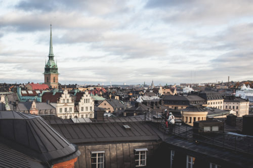 Stockholm von oben bei einer Dachtour | © Tuukka Ervasti/imagebank.sweden.se
