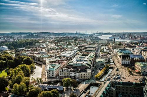 Skyline der Stadt Göteborg