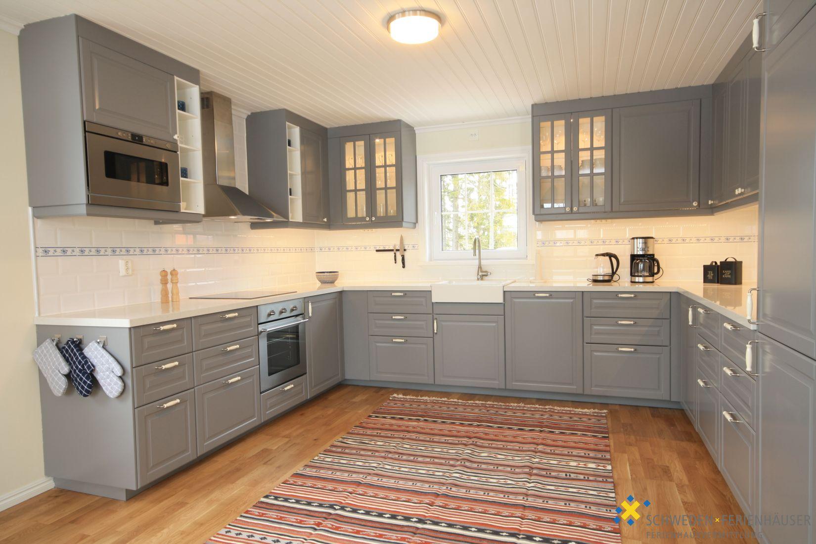Wohnbereich 1 Mit Kamin Und Offener Küche Mit Essplatz Ferienhaus