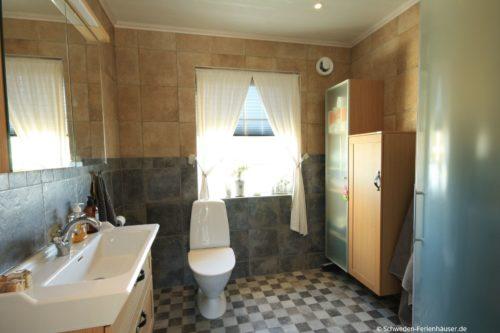 Badezimmer- Ferienhaus Sjötorpet