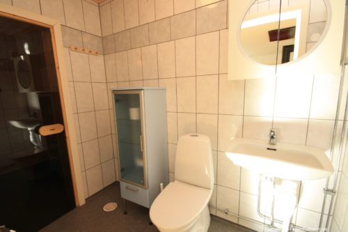 Badezimer mit Sauna - Ferienhaus Backö